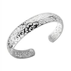 "Jean ""Gift, Gracious"" Bangle #cateandchloe #jewelry #silver #bangle #jean"