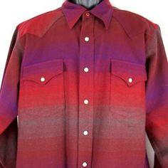 Pendleton High Grade Western Wear Mens Size L Pearl-Snap Wool Shirt Multicolored | eBay Man Clothes, Western Wear, What To Wear, Pearl, Shirt Dress, Wool, Mens Tops, Shirts, Ebay