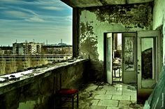 Pripyat Balcony. Pripyat is my favorite abandoned place