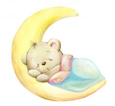 Sleep Cartoon, Cute Cartoon, Cartoon Mignon, Giraffe Decor, Sweet Dreams Baby, Cute Animals, Baby Animals, Cute Teddy Bears, Watercolor Paintings