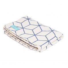 Navy & Cream Geometric Blanket