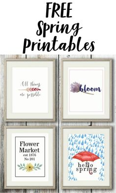 Get your FREE Spring Printables here! I love printables they are great for cheap decorating.