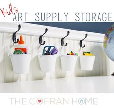 Kid's Art Supply Storage