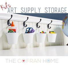 Kid's Art Supply Storage