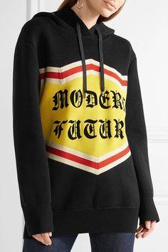 Gucci - Modern Future Sequin-embellished Cotton Jacquard-knit Hooded Top - Black - medium