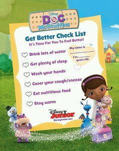 Doc Mcstuffin checklist