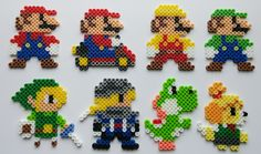 the new game mario maker came with an amiibo thing where you could make mario wear other character costumes. they look much like this but id love a few cool characters as coasters.