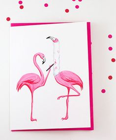 Get well card Pink flamingo who broke is by AmelieCardsandPrints