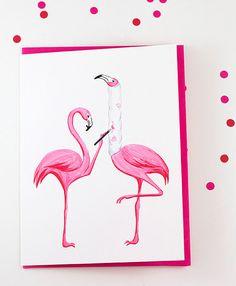 Get well card Pink flamingo who broke is by AmelieCardsandPrints