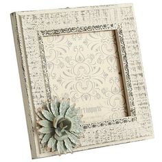 leila blue flower 4x4 photo frame