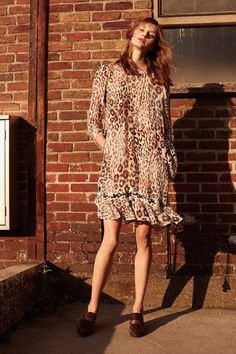 Défilé Chloé croisière 2016 robe léopard