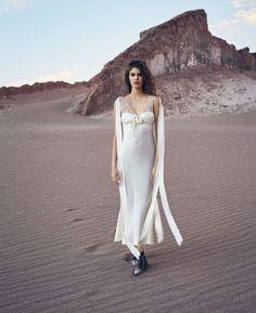 Vanessa Moody takes on the slip dress for Harper's Bazaar US April 2016 by Nathaniel Goldberg