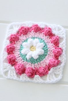 {Crochet} Daisy Wheel Granny Square