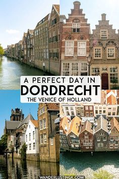 Looking for the perfect day trip from Rotterdam, the Netherlands? Visit the Venice of Holland! Dordrecht is a stunning city in Holland worth taking a day trip from Amsterdam! niederlande One perfect day in Dordrecht, the Venice of Holland Day Trips From Amsterdam, Amsterdam City, Amsterdam Travel, Europe Travel Tips, European Travel, Travel Destinations, Travel Trip, Travel Guide, Holland Europe