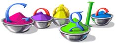 This Doodle was for Mar 1, 2010. Holi Festival 2010 google doodle.