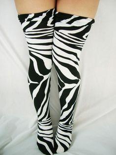 Zebra socks! I would so wear these!