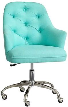 Pottery Barn Tufted Desk Chair Pool