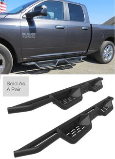 Check out our unique and rugged X-Magnum running boards for the Dodge Ram. #ramtrucks #dodgeram1500 #dodgeram2500