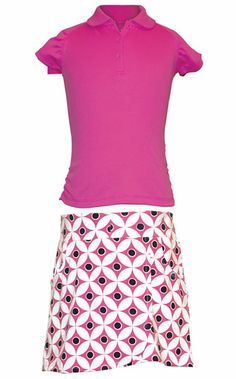 Keep your look confident, bright & comfortable in this Rachel/Gentry Junior Garb Girls Golf/Tennis Outfit! #juniorgirls #golf #tennis #lorisgolfshoppe
