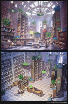 Library by ~arsenixc on deviantART