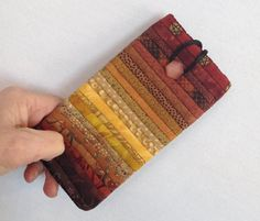 Quilted eyeglass case. Brown glass case. Sunglasses case. Gift for quilter. Reading glass case. Small phone case. Soft quilted case. by AnnBrauer on Etsy