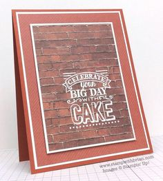 We love this card that Brian King created by stamping on the new Adventure Bound paper stack.  There are so many unique patterns in this stack and we love it with stamping.