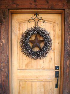 Burgundy & Vanilla BARN STAR Wreath-LARGE-Americana Wreath-Rustic Primitive Country Decor-Scented Cran-Orange-or Choose your Scent