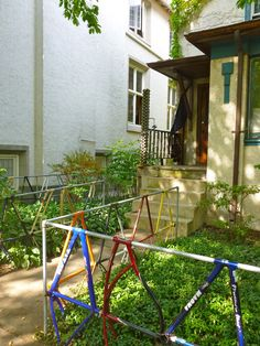 Repurpose: Bike-frame fencing...