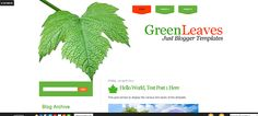 reenLeaves Blogger Template
