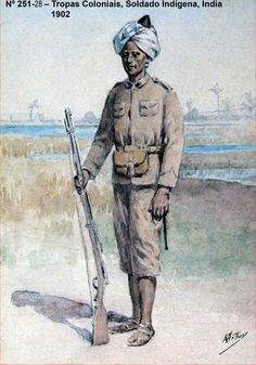 Native soldier from the Portuguese Colonial Troops - India 1902