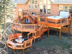 deck accessories | ... decks, multi-level decks, multi-tier decks, hot tub decks, custom