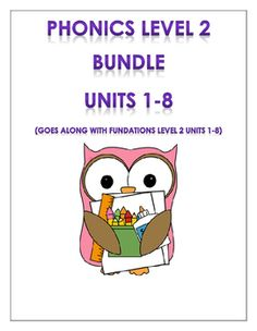 Fundations level 2 units 1-8: I hope you find this resource helpful! You will…