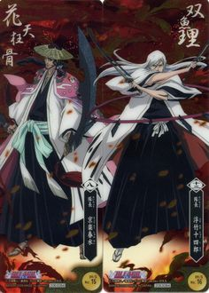 Kyoraku and Ukitake - Bleach © Kubo Tite