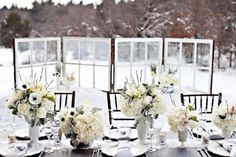 Milk Glass in the Snow  WINDOWS
