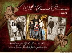 Blessed Christmas Christian Photo Card - 2017 Family