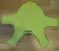 Imagem:about.com Aqui vou passar um tutorial bem fácil de roupa de cachorro. Quem é iniciante consegue fazer facilmente :) A roupa você pode fazer com um tecido impermeável também, o que fica muito legal para você passear com seu cão na chuva. O molde você pode baixar AQUI nesse link. Imprima, recorte e junte a…
