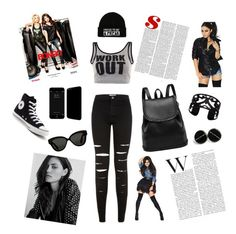 """""""Street Style"""" by marina-kuschnirencko ❤ liked on Polyvore featuring Converse, Free People, Linda Farrow and Lisa August"""
