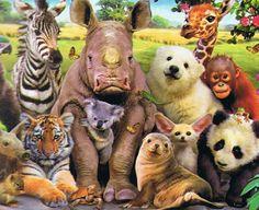 Foto de fin de curso en la selva. Divertida ilustración hecha puzzle por Educa Borrás. Dispone de 1000 piezas. De venta en puzzlemania.net