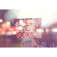 Tumblr Peace Love Books - Polyvore