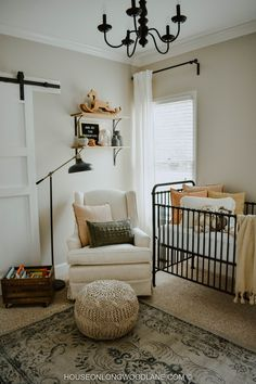 Bohemian Nursery + Baby Nursery + Baby Room Ideas + Interior Design + Home Decor Bohemian Nursery, Nursery Neutral, Black Crib Nursery, Blush Nursery, Gold Nursery, Nursery Boy, Nursery Rugs, Baby Bedroom, Baby Sleep