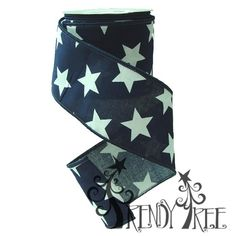 "2.5"" Cotton Navy White Stars #TrendyTree"