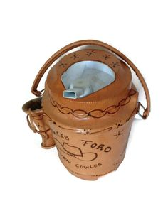Leather Decorated  Water Jug