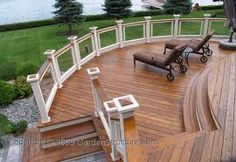 Our Gallery of Large Decks. Our large decks look to be a natural extension of the home. For deck ideas and images of decks, check out our image gallery. Whirlpool Pergola, Outdoor Spaces, Outdoor Living, Tiny House, Hot Tub Pergola, Curved Pergola, Pergola Swing, Deck Pictures, Pictures Images