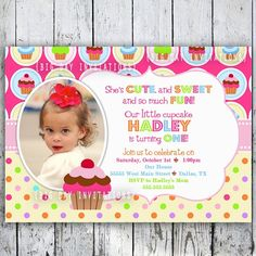 Nice Cupcake Birthday Invitations Ideas for Her