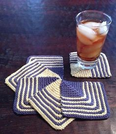 The Mod Knit Coasters are the perfect finishing touch for any throwback party or BBQ. Keep tables, dressers, and cabinets safe from harm with these retro DIY coasters.