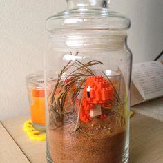 "140 mentions J'aime, 1 commentaires - Jacinta Kong (@jacintakong) sur Instagram: ""Charmander in their natural habitat  #terrarium #charmander #pokemon #sand #pokemonnanoblock…"""