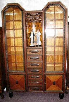European Oak & Ebony Cabinet - Morris Antiques