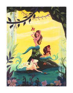 Mermaids. $30.00, via Etsy.