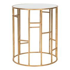 Doreen Accent Table in White