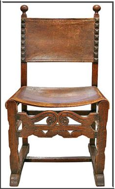 chair in Spanish furniture style. I would love to have this type of chairs as end chairs and the rest modern for the dinning room rustic table. or some thing :) Spanish Style Decor, Spanish Style Homes, Spanish Revival, Spanish Colonial, Southwestern Decorating, Southwest Decor, Mexican Interior Design, Mission Style Homes, Dining Room Table Chairs